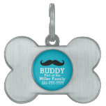 Funny Curled Black Mustache Pet Tags