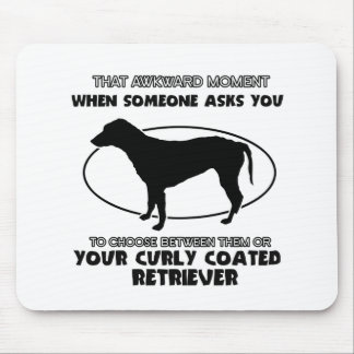 Funny CURLY COATED designs Mouse Pad