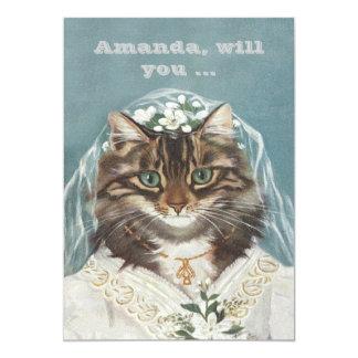Funny custom be my bridesmaid/maid of honor card