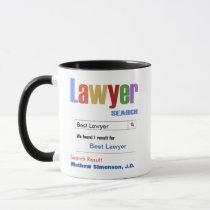 Funny Custom Best Lawyer Gift Mug