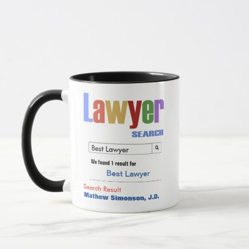 Funny Custom Best Lawyer Gift Mug