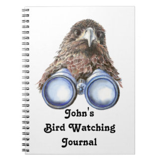 Funny Custom Bird Watching Journal for Birders