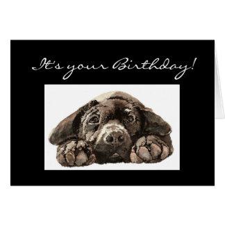 Funny  Custom Birthday, Labrador Retriever, Dog Greeting Card