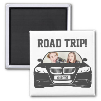 Funny Custom Car Photo Road Trip Magnet