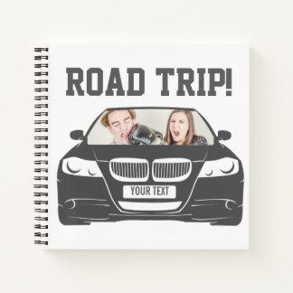 Funny Custom Car Photo Road Trip Notebook