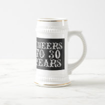 Funny custom cheers to 30 years birthday name gift beer stein