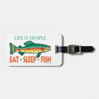 Funny Custom Fishing Bag Tag