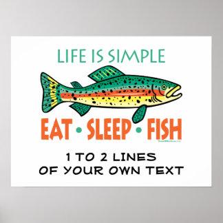 Funny Custom Fishing Poster