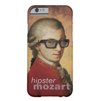 Funny Custom Happy Hipster Mozart Barely There iPhone 6 Case