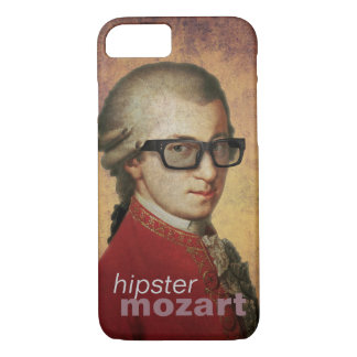 Funny Custom Happy Hipster Mozart iPhone 7 Case