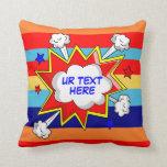funny custom  kids room throw pillows
