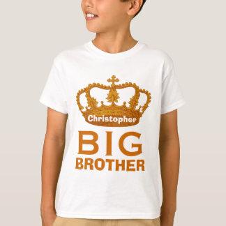 Funny Custom Name BIG BROTHER Crown Gift V02 T-Shirt