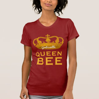 Funny Custom Name Crown Gift Queen Bee V21 T-Shirt