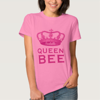Funny Custom Name Crown Gift Queen Bee V4B Tee Shirt