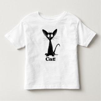 Funny Custom Name Kid's Little Black Cat Toddler T-shirt