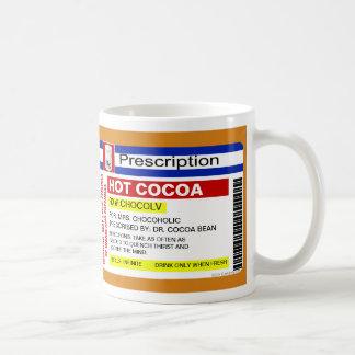Funny Custom Prescription Hot Cocoa Chocolate Mug