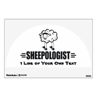 Funny Custom Sheep Wall Decal