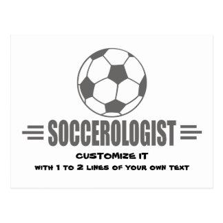 Funny Custom Soccer Postcard