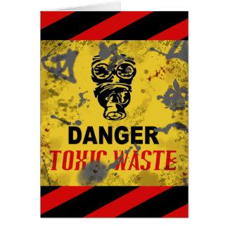 Funny Custom Toxic Waste Teen/College Age Birthday Card