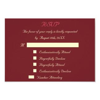 Funny Custom Wedding RSVP Invitation Card Marsala