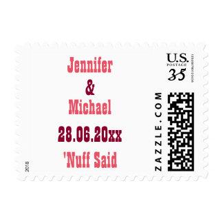 Funny Custom Wedding Save the Date Postage Stamp