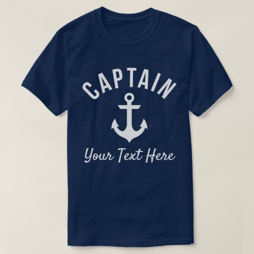 Funny Customizable Boat Captains Shirt