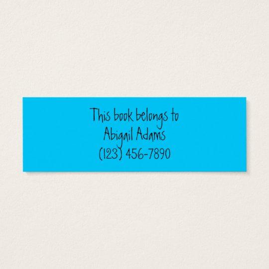 Funny Customizable Bookmarks Mini Business Card