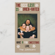 Funny Customizable Christmas Holiday Card