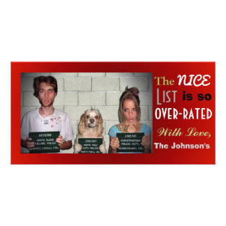 Funny Customizable Family Photo Christmas Card