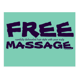 Funny CUSTOMIZABLE Free Hair Style with Massage Postcard