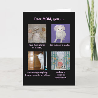 Funny Customizable Mother's Day Pretty Cat Card