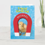🤣 Funny Customizable Chick Magnet Birthday Card