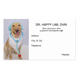 Funny Customizable Veterinarian Business Card
