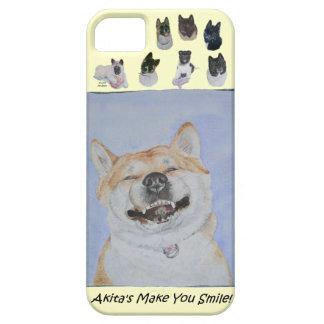 funny cute akita smiling realist dog art iPhone SE/5/5s case