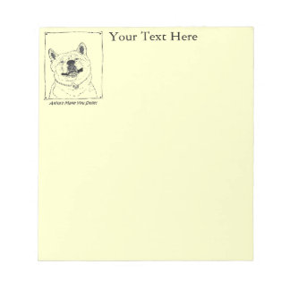 funny cute akita smiling realist dog art notepad