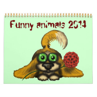 Funny cute animals 2014 calendar design