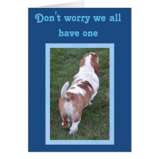 Funny & Cute Basset Hound Birthday Card