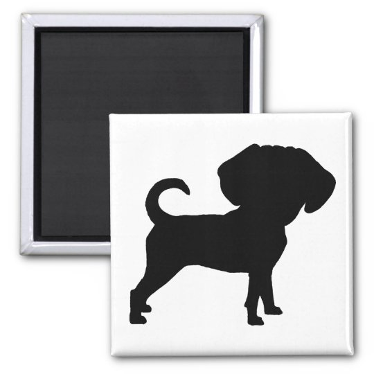 Funny Cute Big Head Puggle Dog Magnet