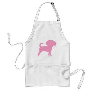 Funny Cute Big Head Puggle Dog (pink) Aprons