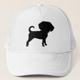 Funny Cute Big Head Puggle Dog Trucker Hat