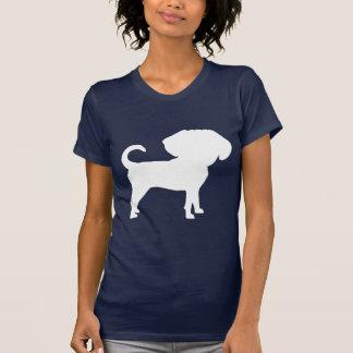 Funny Cute Big Head Puggle Dog (white) Tshirts