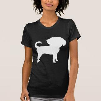 Funny Cute Big Head Puggle Dog (white) Tee Shirt
