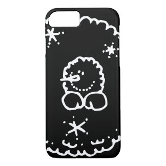 Funny Cute Black And White Snowball Face iPhone 8/7 Case