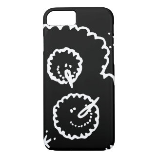 Funny Cute Black And White Snowball Faces iPhone 8/7 Case