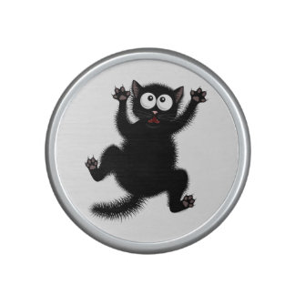Funny Cute Black Scared Cartoon Cat, kitten Speaker