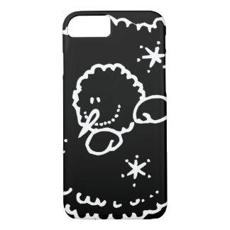 Funny Cute Black White Face Stars iPhone 8/7 Case
