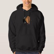 funny cute brown moo cow cartoon hoodie