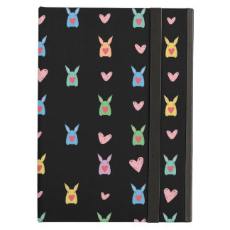 Funny Cute Bunny Hearts Pattern Case For iPad Air