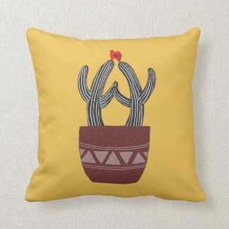 Funny Cute Cactus Love Pillow Happy Cactus Pillow