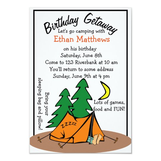 Funny cute camp out birthday party invitations zazzle funny cute camp out birthday party invitations filmwisefo